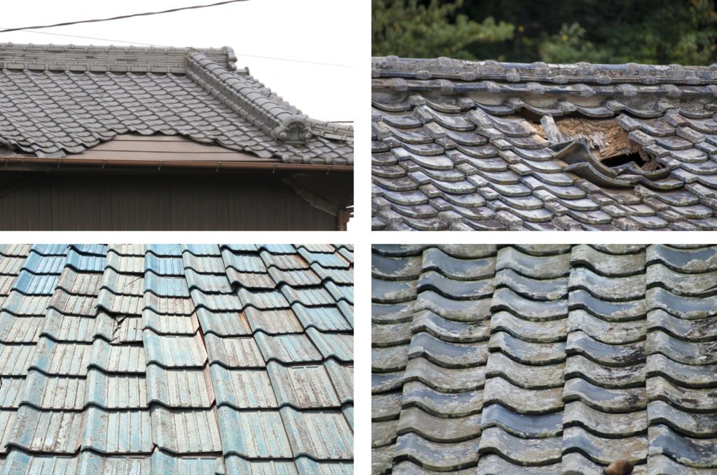 劣化、災害の被害を受けた屋根