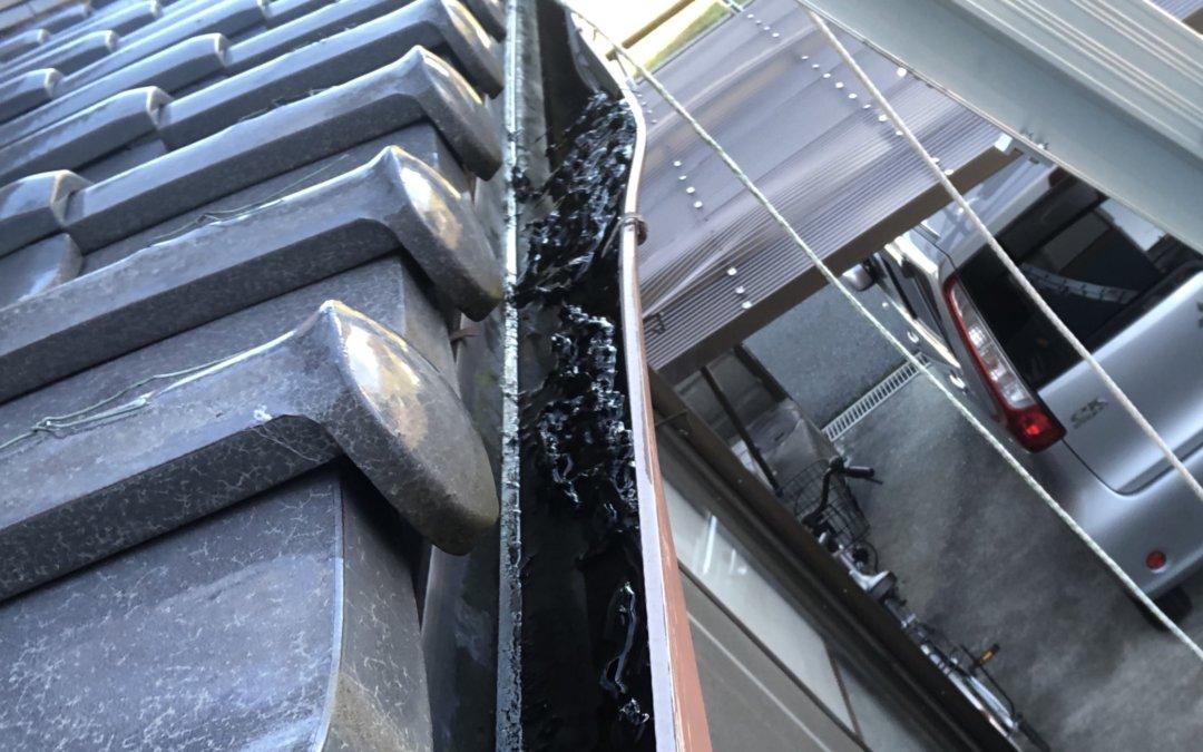 雨樋被害写真 無料工事