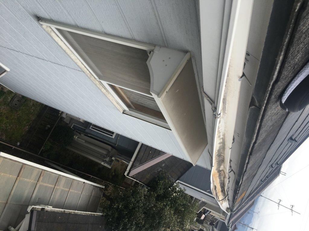 滋賀県彦根市 積雪被害 軒樋写真 火災保険適用 日本建宅