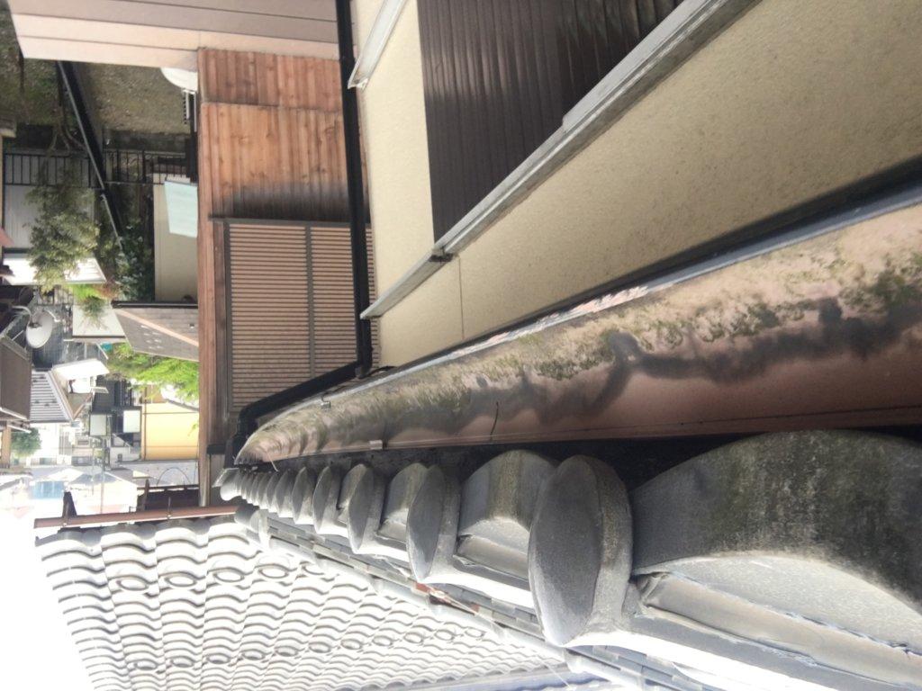 彦根市 台風被害 軒樋写真 日本建宅