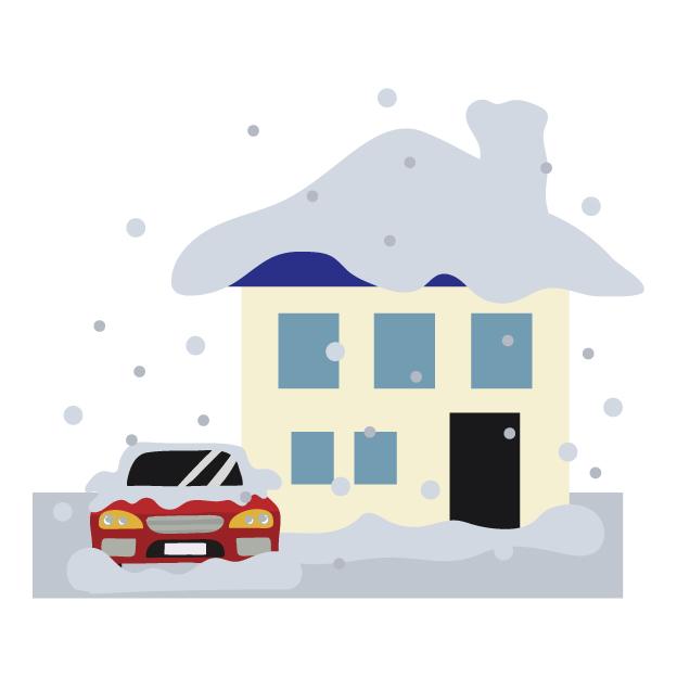 今回は滋賀県近江八幡市内で積雪の影響で被害が出たお家の現地調査を致しました!
